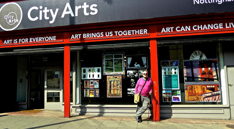 Tony at City Arts in Nottingham