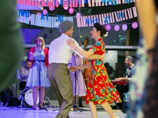 NHS70 Tea Dance at Great Ormond Street Hospital