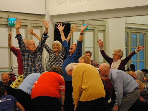 A picture of a Parkinson's dance class, led by Pavillion Dance South West